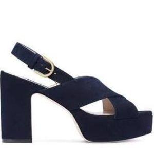 Stuart Weitzman Jerry sandal navy blue